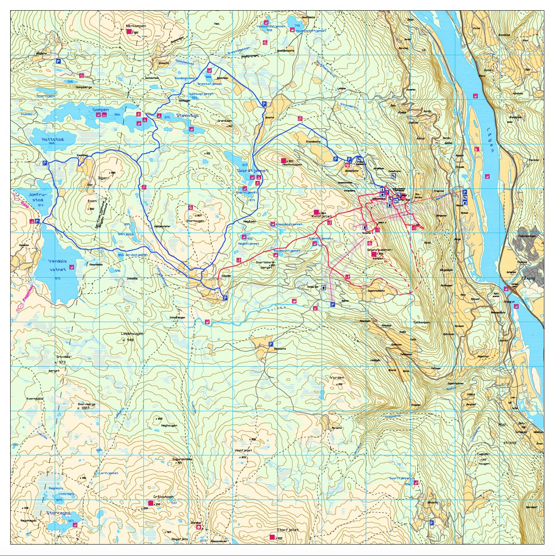 kvitfjell alpinanlegg kart